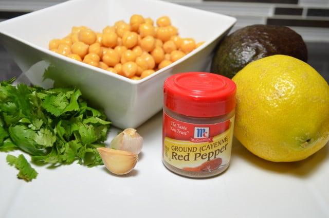 Avocado Hummus Dip Ingrediants