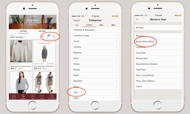 Poshmark tips subcategories