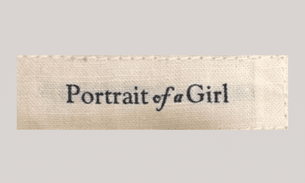 Portrait of a girl label