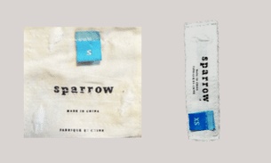 Sparrow label